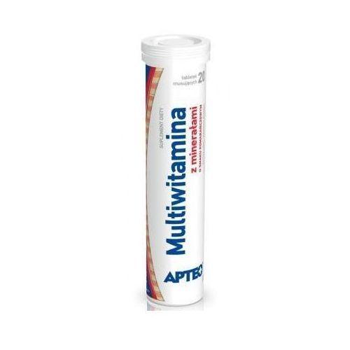 Tabletki MULTIWITAMINA z minerałami Apteo smak pomarańczowy x 20 tabletek musujących