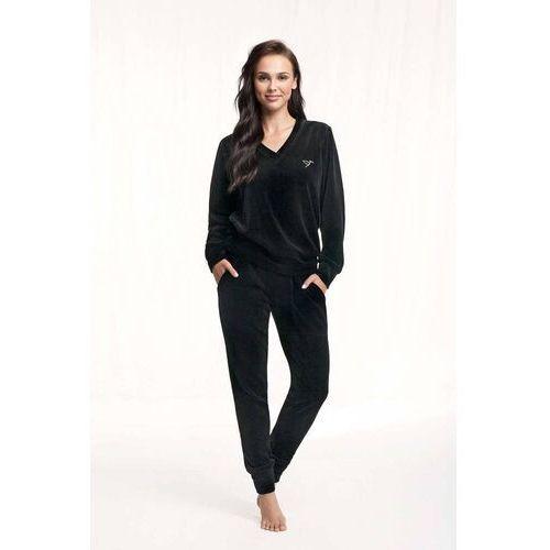 Dres damski homewear luna 306 dł/r s-2xl rozmiar: l, kolor: czarny/nero, luna, kolor czarny