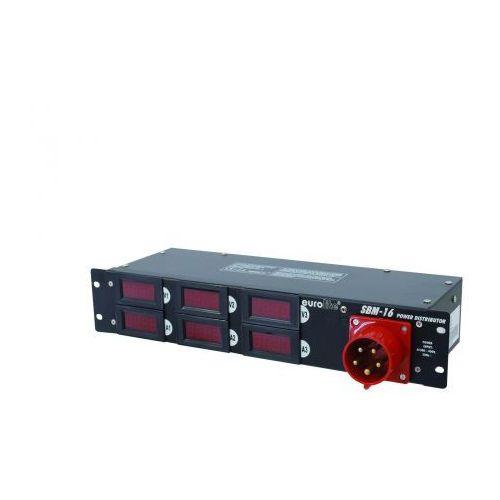 Eurolite SBM-16 dystrybutor 16A z miernikami
