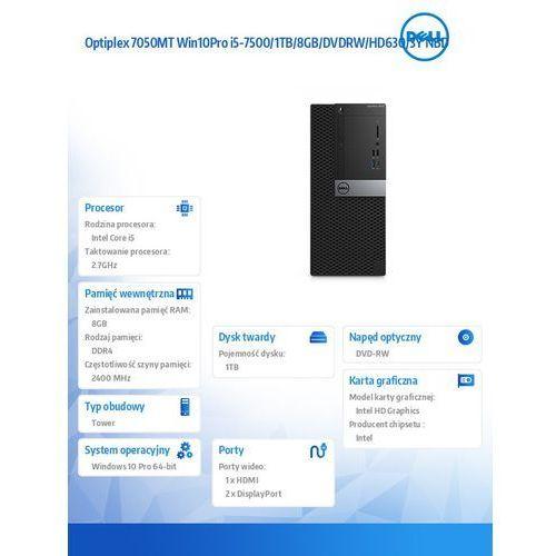 Optiplex 7050MT Win10Pro i5-7500/1TB/8GB/DVDRW/HD630/3Y NBD