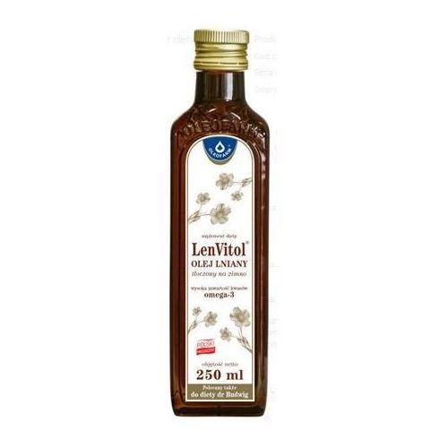 Oleofarm marek chrzanowski, leszek stanecki sp.z o.o. Lenvitol olej lniany budwigowy tłoczony na zimno płyn - 250 ml (butelka) (5907559279596)