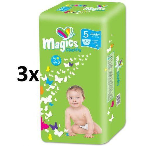 Magics Pieluchy Flexidry Junior (11-25 kg) Ecopack - 156 szt. (8595611621185)