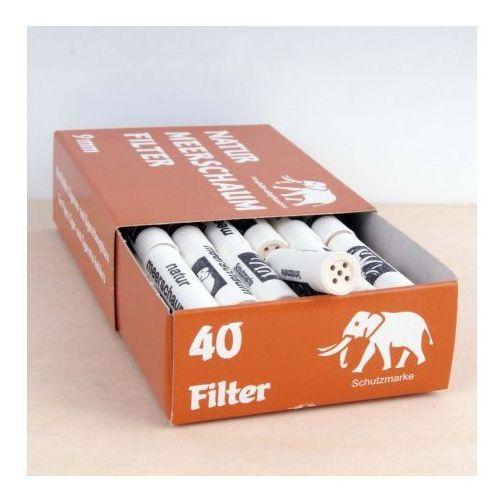White elephant Filtr fajkowy, filtry do fajki 9mm meerschaum 40 szt 05027