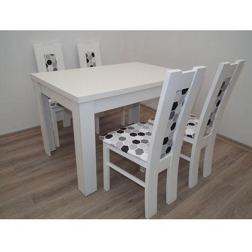 Mega okazja stół S-44 80/140/180 + 4 krzesła kolor biały - produkt z kategorii- stoły kuchenne