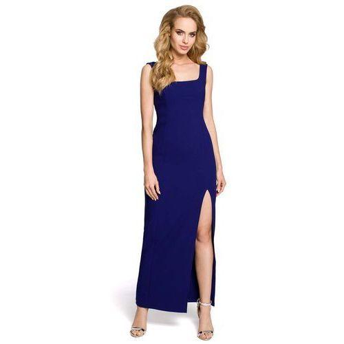 Moe Chabrowa elegancka suknia wieczorowa z rozporkiem na boku