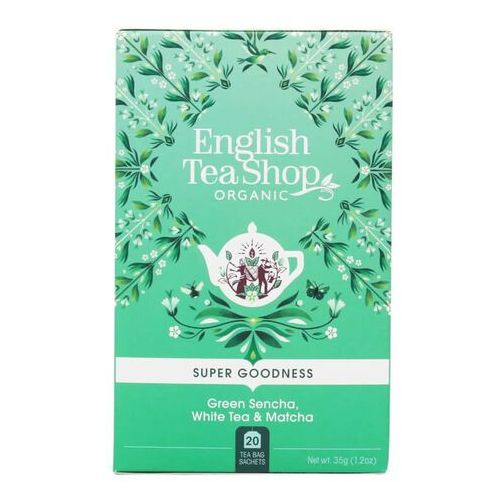 Zielona herbata Sencha, biała i matcha 20x1,75 g BIO 35 g English Tea Shop