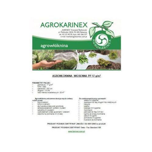 Agrowłóknina wiosenna PP 17 g/m2 biała 3,2 x 10 mb. Paczka o wadze 0,6 kg. - produkt z kategorii- folie i agrowłókniny