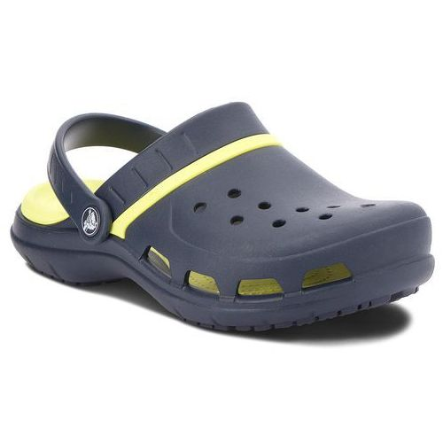 Crocs Klapki - modi sport clog 204143 navy/tennis ball green