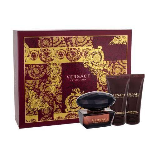 Versace crystal noir zestaw edt 50ml + 50ml balsam + 50ml żel pod prysznic dla kobiet (8011003837205)