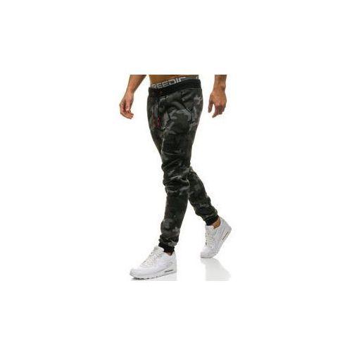 Spodnie męskie dresowe joggery moro-grafitowe denley kk06 marki J.style
