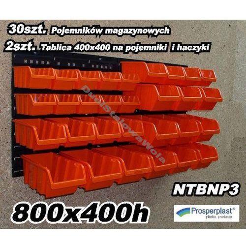 PROSPERPLAST zestaw kuwety magazynowe warsztatowe 800X400h NTBNP3 - sprawdź w organizery.eu