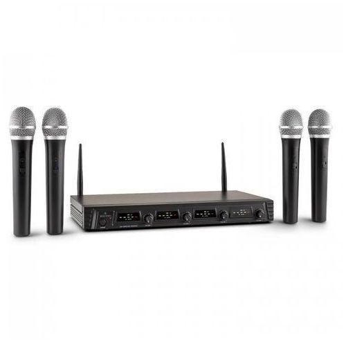 Malone Duett Pro V1 4-kanałowy bezprzewodowy zestaw mikrofonowy UHF zasięg 50m (4260365799155)