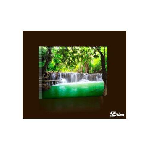 Wodospady w Tajlandii BASIC Obraz LED prostokątny (obraz)