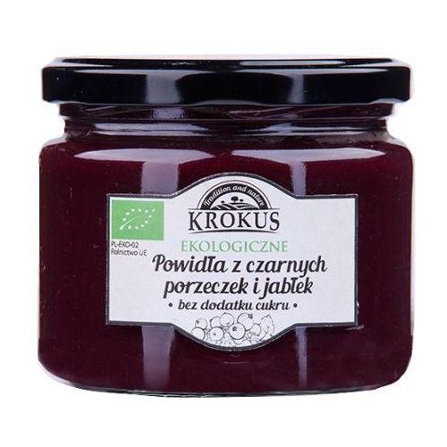 Ekologiczne powidła czarna porzeczka-jabłko bez cukru 310g - marki Krokus