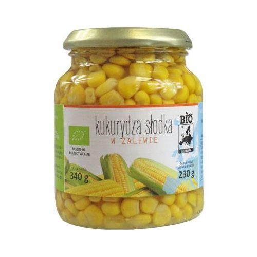 340g kukurydza słodka w zalewie słoik bio marki Bio europa