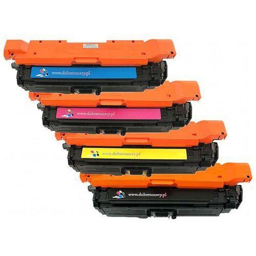 Komplet tonerów zamienników dt4525kplxh do hp color laserjet cp4525, pasuje zamiast hp ce260x ce261a ce262a ce263a 649x 648a cmyk, 17000/11000 stron marki Dobretonery.pl