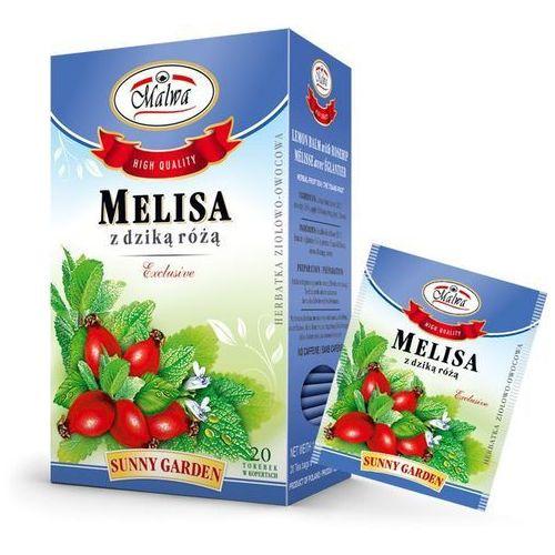 Malwa sunny garden herbata melisa z dziką różą 20t marki Herbaty malwa