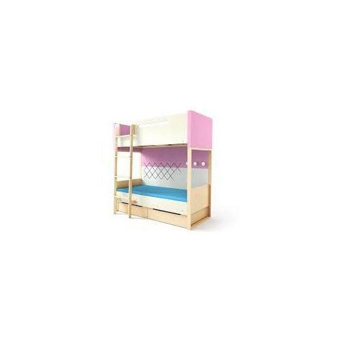 Loft łóżko piętrowe z pojemnikami TIMOORE PLUS różowe - wersja premium - oferta [055bdfa63f131503]