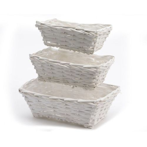 Osłonka na doniczkę biały koszyczek wysokość 9 cm 838033-2 - oferta [05dd2476b7c1a566]