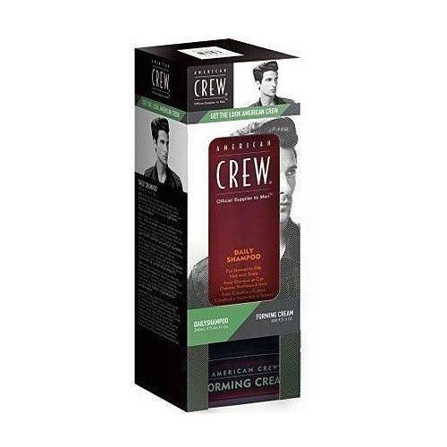 American Crew zestaw Daily szampon 250ml i Forming Cream 85g, szampon i krem dla mężczyzn