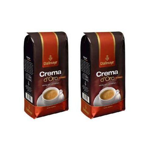 Dallmayr Zestaw 2x crema d'oro intensa kawa ziarnista import 1kg