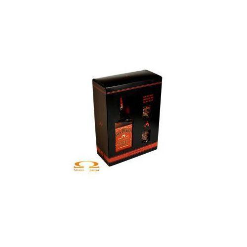 Likier jack daniel's tennessee fire 0,7l + 2 szklanki marki Jack daniel distillery