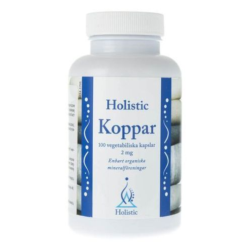 Kapsułki Holistic Koppar Miedź łatwo przyswajalne związki miedzi 2 mg 100 kaps.