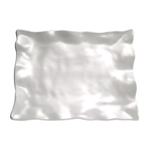Półmisek prostokątny z melaminy 440x345x50 mm, biały | APS, Global Buffet