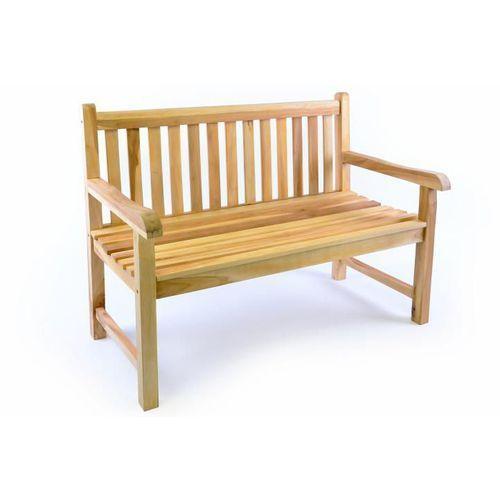 Ławka ogrodowa 2-osobowa drewniana 120 cm