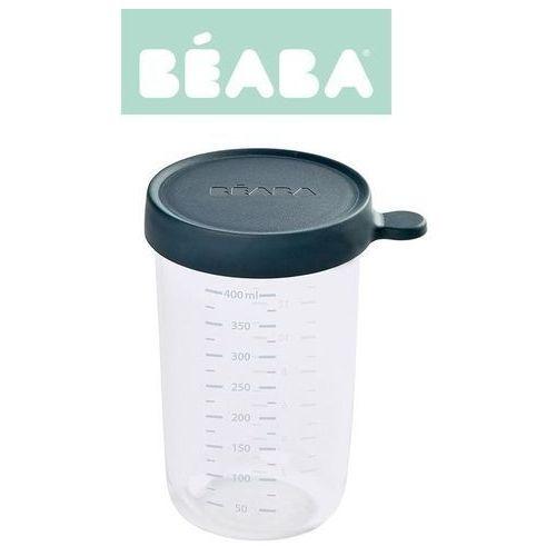 pojemnik słoiczek szklany z hermetycznym zamknięciem 400 ml dark blue marki Beaba