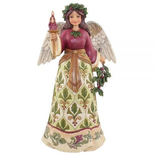Jim shore Anioł świąt jolly holly days (victorian angel) 4058755 figurka ozdoba świąteczna