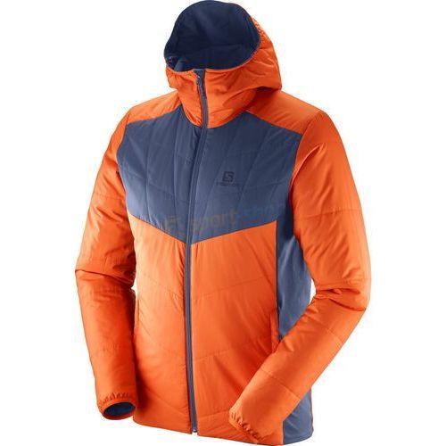 Kurtka trekkingowa męska drifter mid hoodie (pomarańczowo-szara) marki Salomon