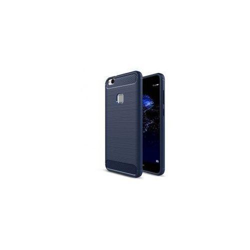 iPaky Slim Carbon elastyczne etui pokrowiec Huawei P10 Lite niebieski, kolor niebieski