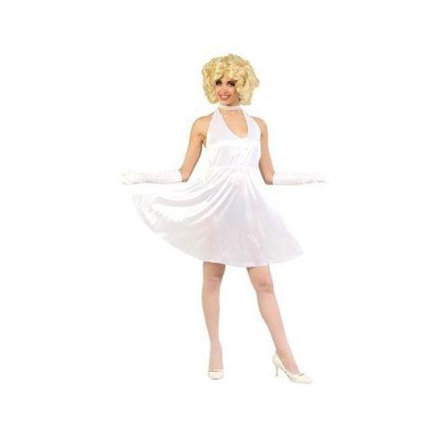 Strój sukienka marilyn monoroe biała m(38-40) marki Twojestroje.pl