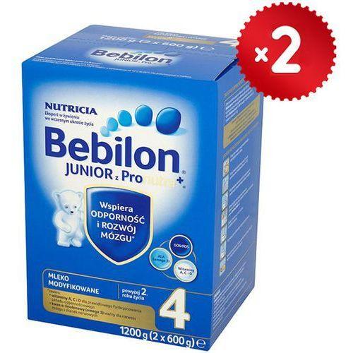 Zestaw 2x  1200g junior 4 z pronutra mleko modyfikowane powyżej 2 roku, marki Bebilon