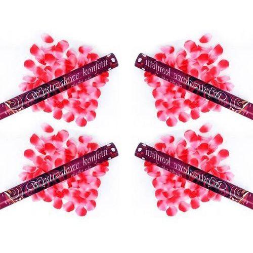Tuba strzelająca, różowe sztuczne płatki róż, 60cm, 4 szt. marki Dp