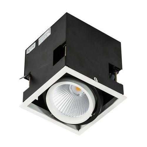 Lampa sufitowa Italux Vertico Single GL7108-1/18W 3000K WH+BL spot 1x18W LED biały mat/czarny (5900644326441)
