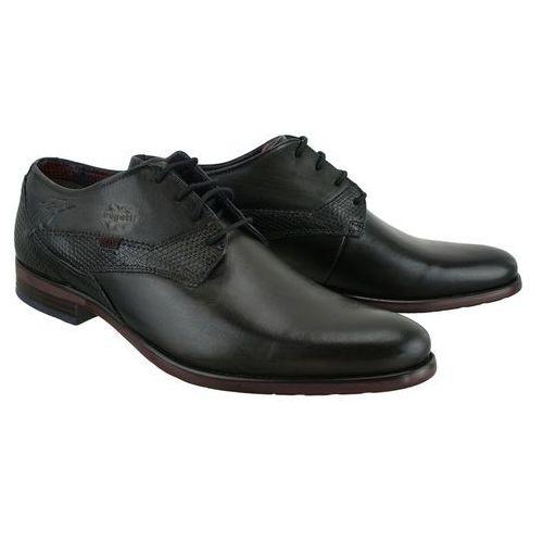 311-16304-2514-1110 dark grey/black, półbuty męskie marki Bugatti