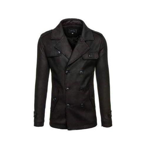 Płaszcz męski zimowy czarny denley 3142, J.style