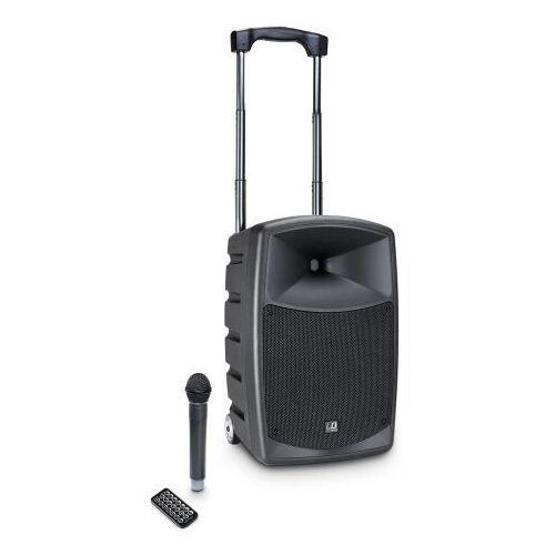 LD Systems Roadbuddy 10HS (655″679 MHz) B6 przenośny zestaw nagłośnieniowy 120W RMS z mikrofonem bezprzewodowym nagłownym, Bluetooth, MP3