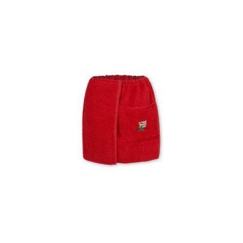 Sauna kilt ręcznik czerwony 100% bawełna męski 50*140 z logo
