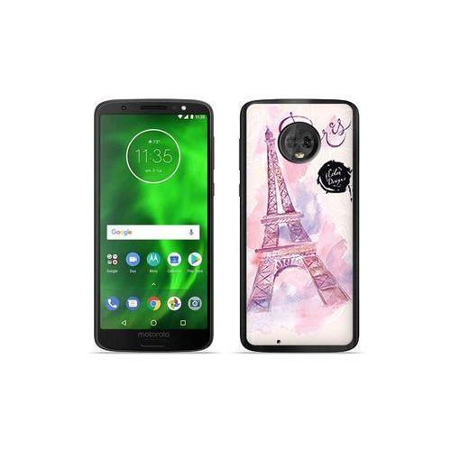 Motorola Moto G6 - etui na telefon Fantastic Case - różowa wieża eiffla