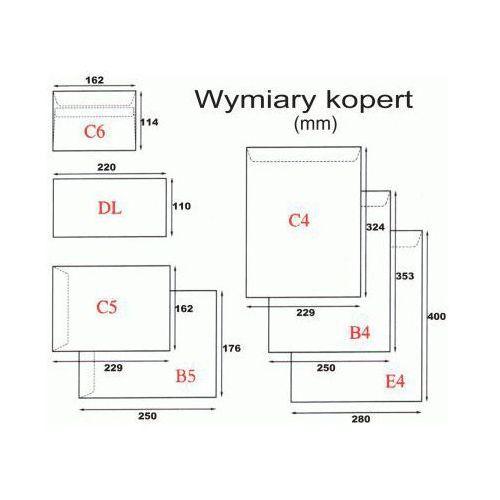 Koperta C6/25szt. SK biała
