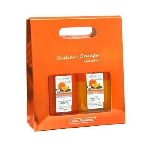 Eco receptura zestaw kosmetyków fresh tangerines 2x500ml marki Stara mydlarnia