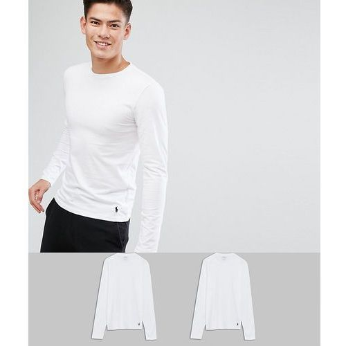 2 pack long sleeve top stretch slim fit in white/white - white marki Polo ralph lauren
