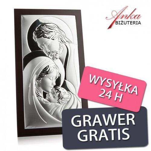 Ankabizuteria.pl obrazek srebrny święta rodzina 14 cm *26 cm marki Valenti & co