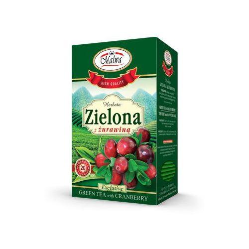 Malwa Herbata zielona + żurawina fix 20*2g