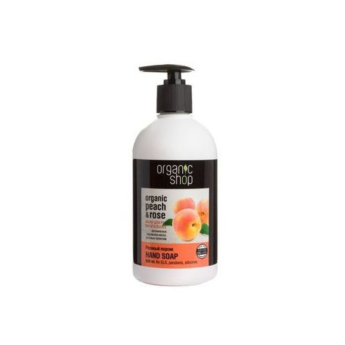 Organic shop Organic rose & peach nourishing hand soap odżywcze mydło do rąk 500ml (4744183011656)