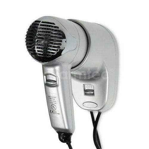 Warmtec® Hotelowa suszarka do włosów warmtec prestige srebrna p2 1200w z uchwytem ściennym