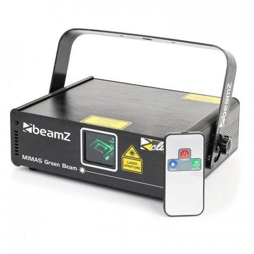 Mimas laser sceniczny 50 mw zielony 9-dmx master/slave tryb sterowania muzyką pilot marki Beamz